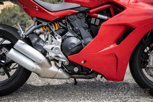 Ducati SuperSport S - right side detail view.