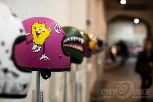 Helmet art at the 2019 One Motorcycle Show.