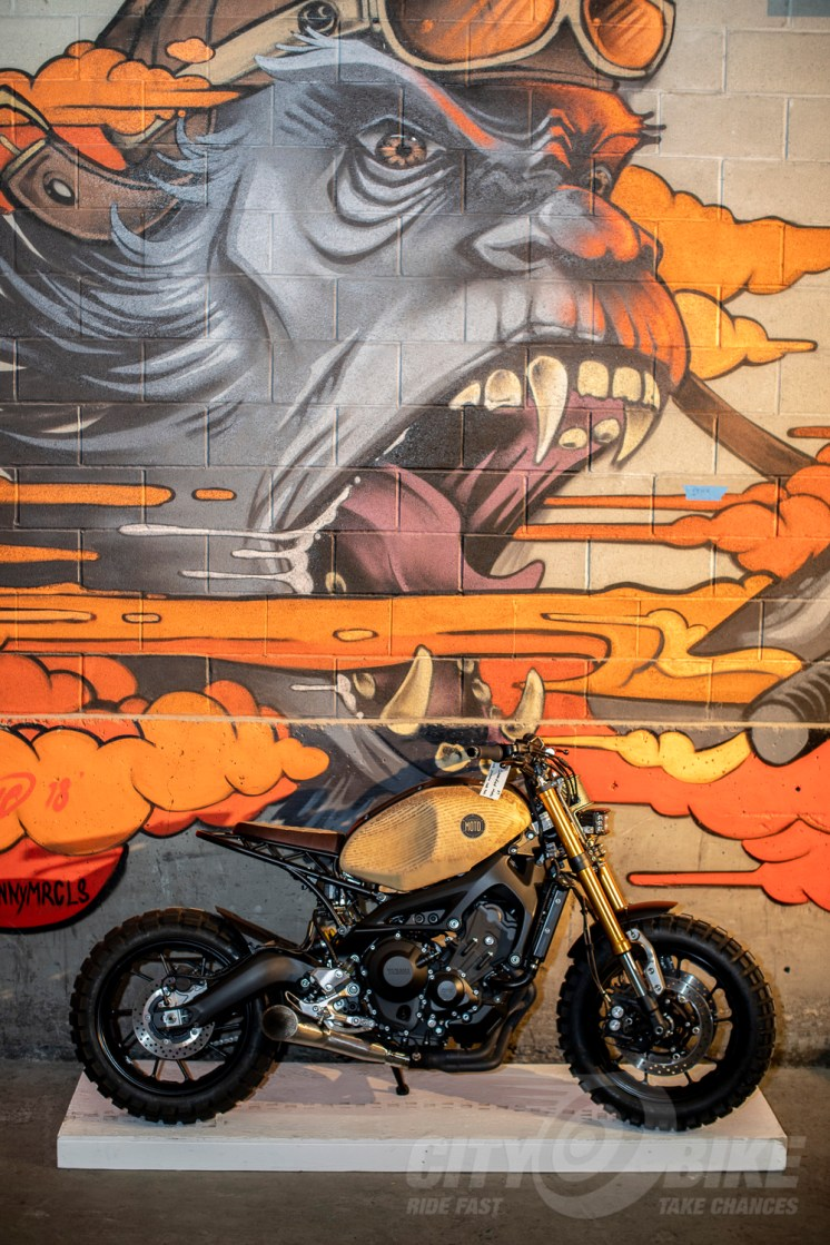 Mural at the 2019 One Motorcycle Show.
