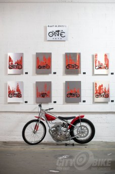 Motorcycle art at the 2019 One Motorcycle Show.