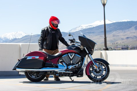 Looks good with a classic leather jacket and cruiser. Shoei GT Air Helmet Review.
