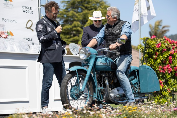 1952 Triumph T6 Thunderbird from the TSW Collectionat the 2019 Quail Motorcycle Gathering. Photo: Angelica Rubalcaba.