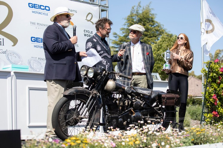 Bryan L. Bossier, Sr.'s HVA Preservation Award-winning 1929 Brough Superior 680 OHV at the 2019 Quail Motorcycle Gathering.
