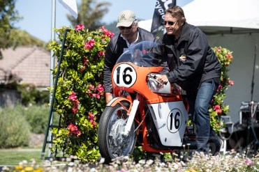 Ron Mousouris's 1967 Honda 450 Daytona Racer won the Significance in Racing Award at the 2019 Quail Motorcycle Gathering. Photo: Angelica Rubalcaba