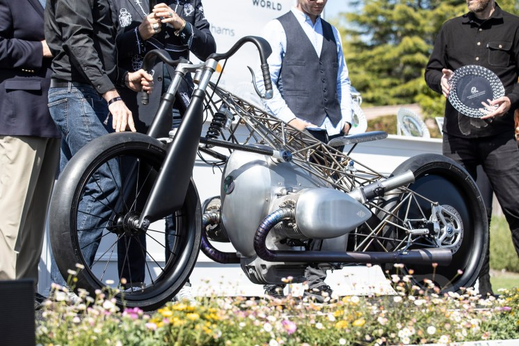 Revival Cycles Birdcage build at the 2019 Quail Motorcycle Gathering. Photo: Angelica Rubalcaba.