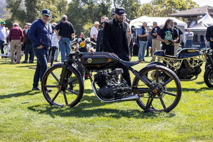 Niki Smart's award-winning XL500-based build at the 2019 Quail Motorcycle Gathering. Photo: Angelica Rubalcaba.