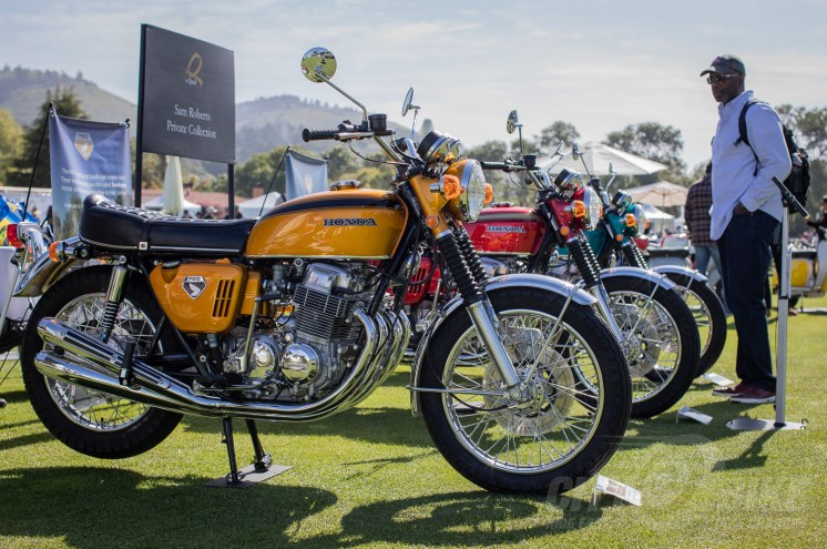 Sam had more than one sweet 750 at the 2019 Quail Motorcycle Gathering. Photo: Angelica Rubalcaba.