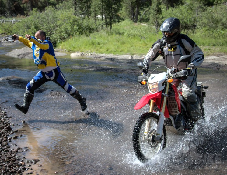 """We call this move the """"Invisible motorcycle."""" Photo: Bungee Brent."""