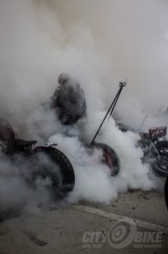Smoke on the concrete, 2014. Photo: Surj Gish.