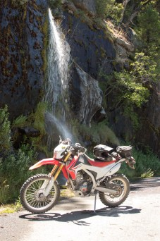 The CRF cools off on the way to Donnells Dam. Photo: Surj Gish.