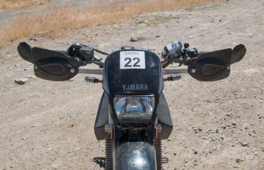 Highway Dirtbikes handguards and Extreme Dual-Sport Tuff Lites turn signals. Photo: Angelica Rubalcaba.