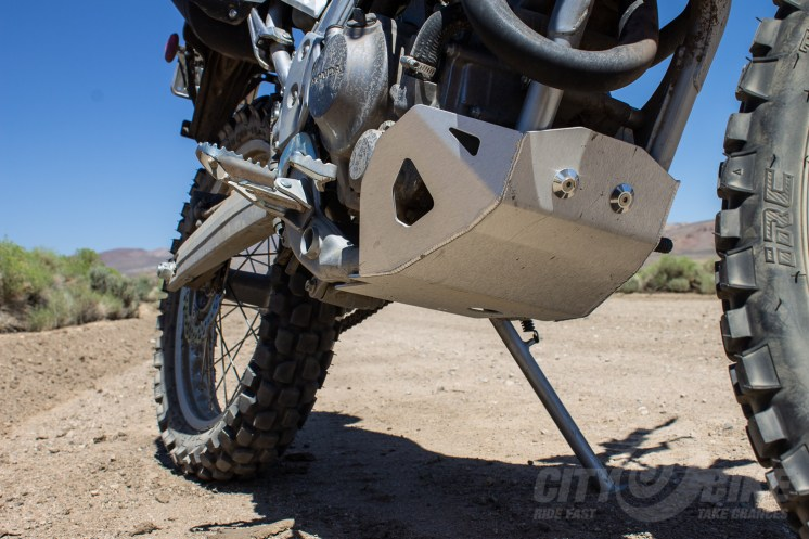 Zeta skidplate on our project Honda CRF250L. Photo: Surj Gish.