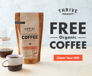 Thrive Market: Free Organic Coffee
