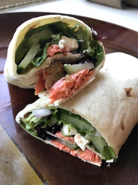Weekend Recipe: Salmon Salad Wrap
