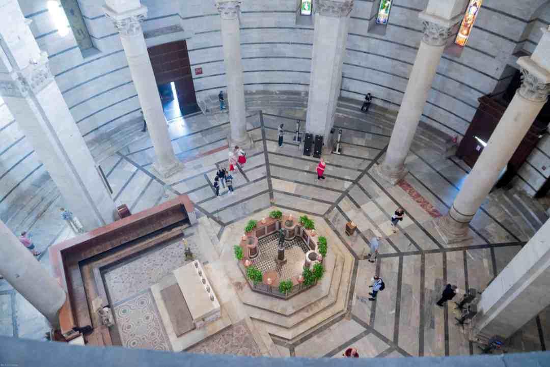 Baptistery seen from above Pisa city break
