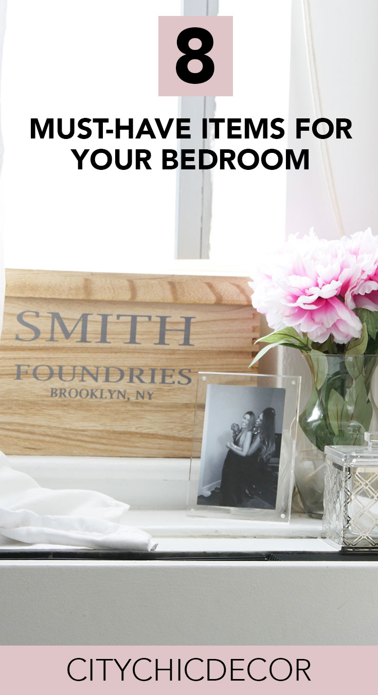 Whether you own your home or rent it, always make sure you have these 8 items in your bedroom! #smallbedroomideas #bedroomideas #bedroomdecor