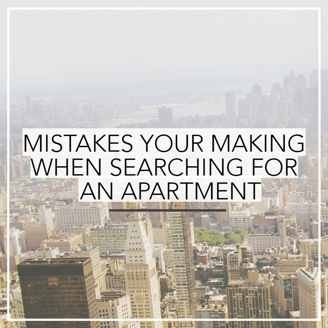 Make sure you're not doing any of these things when searching for your next apartment. #movingtips #movinghack