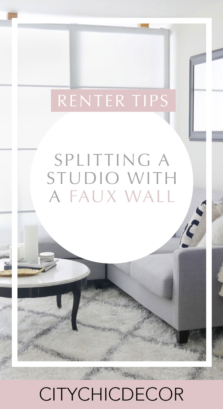 Live in a studio apartment and need to create a room divider? Need some studio apartment inspiration? Learn how to here! #roomdivider #roomdividerideas #studioapartmentideas #tinystudioapartmentideas #studioapartmentdecorating #decoratingonabudget #smallapartmentideas