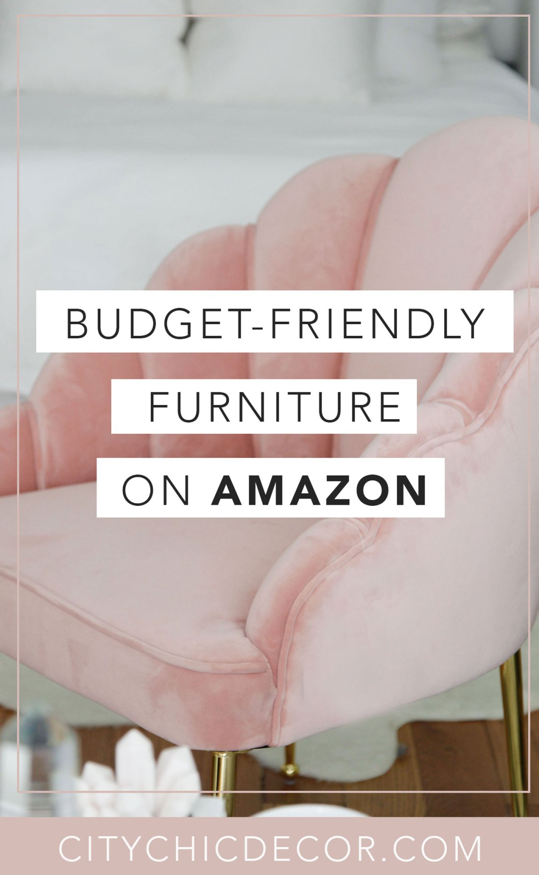 These glam, affordable furniture items from Amazon will blow you & your house guests away. From glam decor to stunning velvet chairs, you'll be shocked with how budget-friendly and cheap these things are! #furnituredesign #furnitureideas #affordablefurniture #affordablefurnitureideas #amazon #thingstobuyonamazon