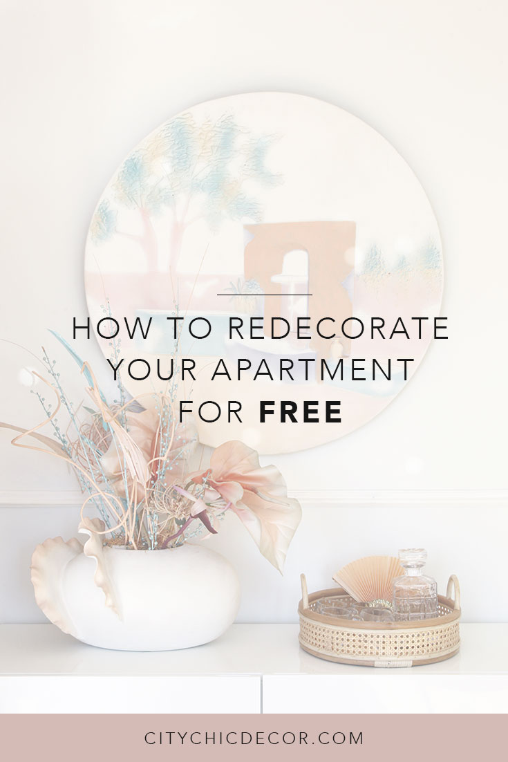 If you want to redecorate your apartment but don't want to spend any money, check these tips out! You can redecorate your entire home for free with simple tricks and hacks. #rentalhomedecorating #rentaldecorating #redecoratingonabudget #smalllivingroomideas #smallapartmentdecorating #redecroatinglivingroom #redecoratingbedroom #livingroomideas