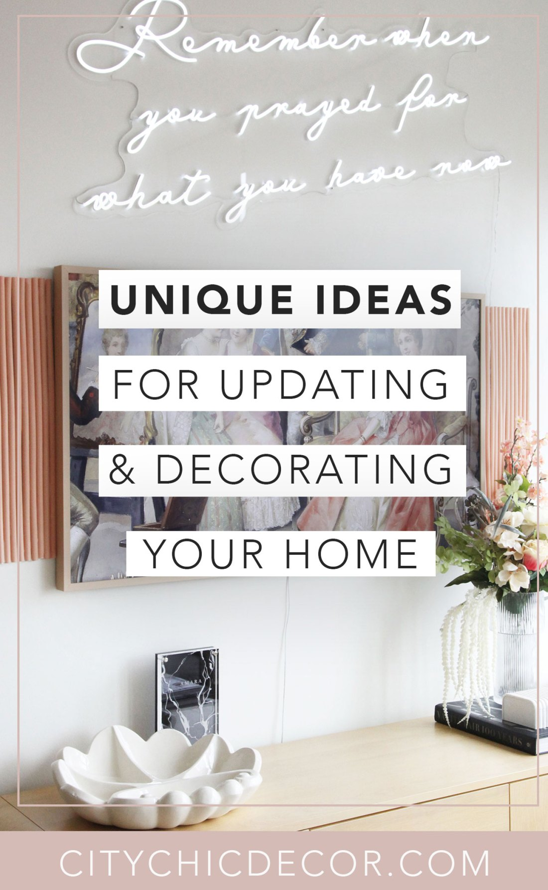 Struggle to find unique decor ideas for your apartment or studio? Decorating your rental home, on a budget, can be super easy with these helpful tips. Your rental will stand out from the rest and will look so chic and unique! These tips will also work for small apartments. #studioapartmentideas #studioapartmentdecorating #rentaldecorating #rentalapartmentdecorating #uniquedecorideas