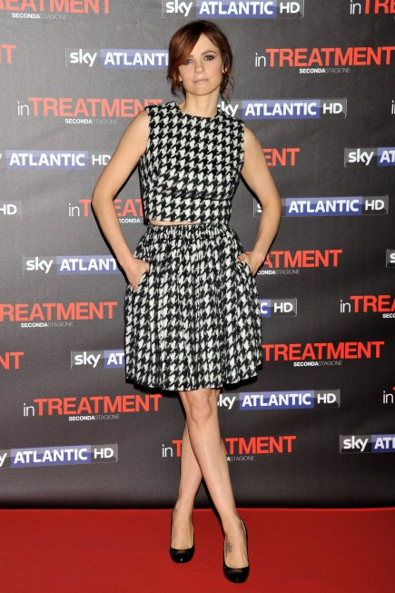 "Roma,  red carpet della serie Sky  ""In Treatment "" . Pictured : Camilla Filippi abito Antoniuo Scervino"
