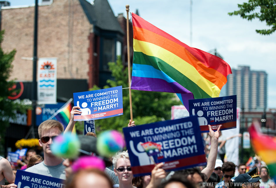 2013 was a huge year for gay rights and the pride parade reflected that. The Supreme Court of the US had struck down DOMA just a day before the parade and the mood of the celebration reflected that.