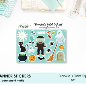Frankies Field Trip halloween stickers