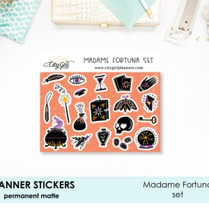 Madame Fortuna Halloween Stickers