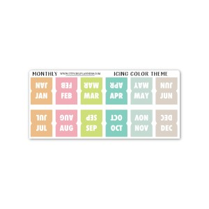 Mini Monthly Icing planner tabs