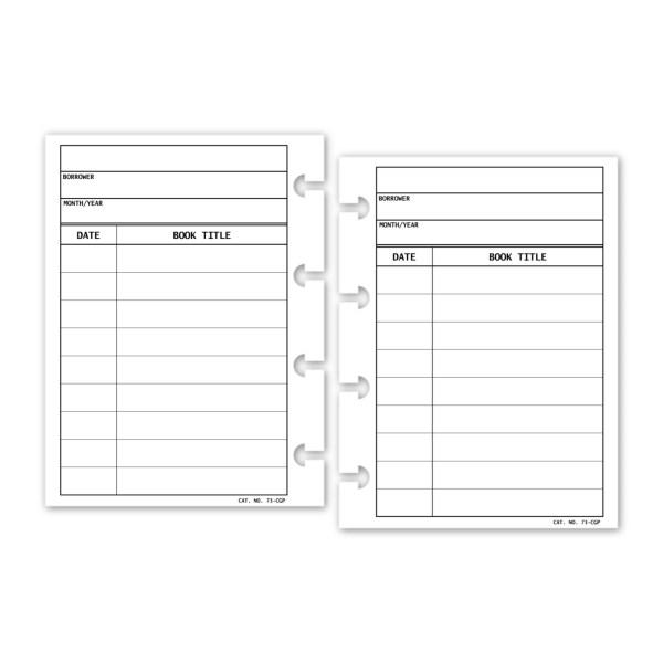 Micro Library Card Book Tracker