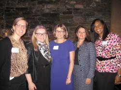 HPD Commissioner Been with members of the Women in Housing and Finance Keynote Luncheon Committee. (l to r:  Jen Trepinski, Corporation for Supportive Housing; Arianna Sacks Rosenberg, Hudson, Inc.; HPD Commissioner Vicki Been; Amie Gross, Amie Gross Architects; and Maygen Moore, Community Solutions)