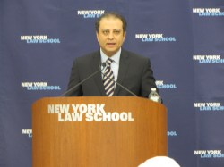 Preet Bharara, U.S. Attorney for the Southern District of New York, speaks at the 118th CityLaw Breakfast. Image credit: CityLand