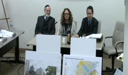 (l. to r.) Mitchell Hirth, Fran Schwartz, and Dan Egers testify on behalf of the proposed Fort Hamilton Parkway rezoning.  Image credit:  NYC.gov