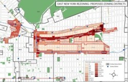 East New York rezoning map. Image credit: DCP