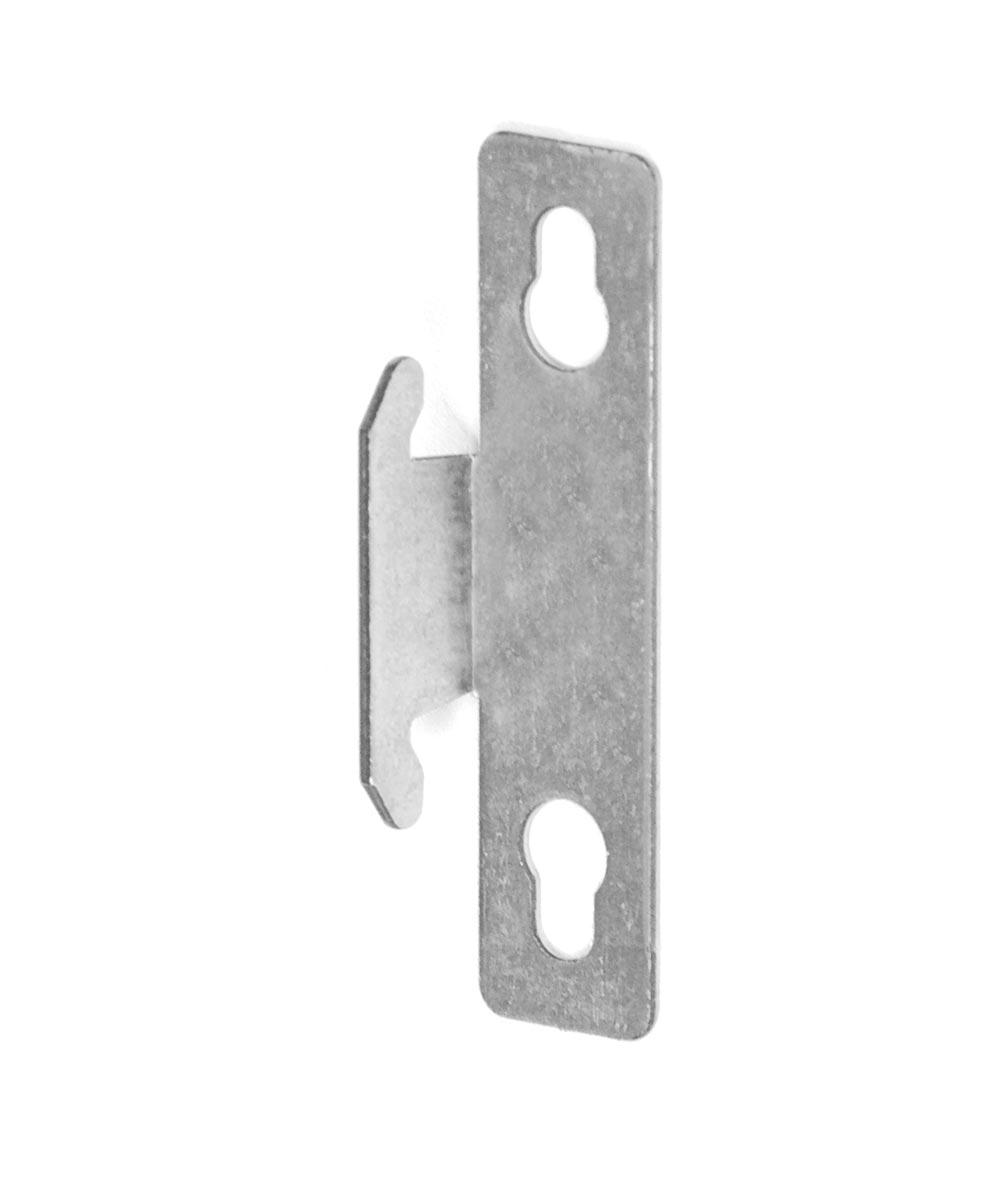 zinc plated heavy duty single curtain rod brackets 2 count