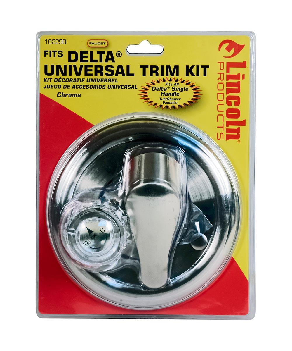 universal single handle valve trim kit for delta tub shower faucets chrome plated