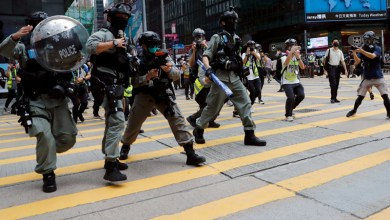 Photo of Hong Kong police fire pepper pellets to disperse protests over security bill