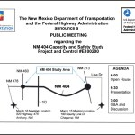 NMDOT 404 Capacity and Safety Study