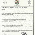 Declaration of Local State of Emergency