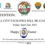 City Facilities Closure Notice
