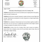 Declaration of Flood Emergency in the City of Anthony, NM