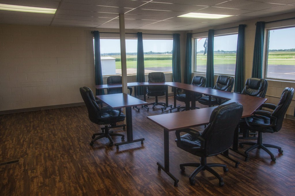 Conference room at Carmi's southern Illinois airport