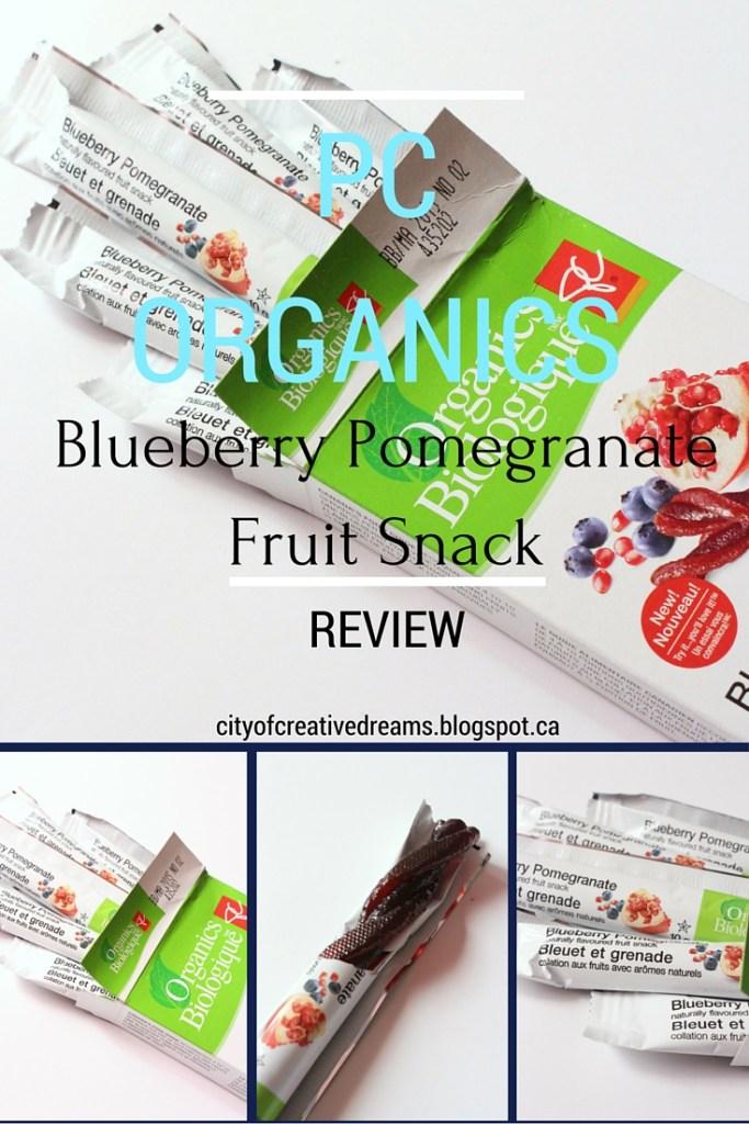 PC Organic Blueberry Pomegranate Fruit Snack