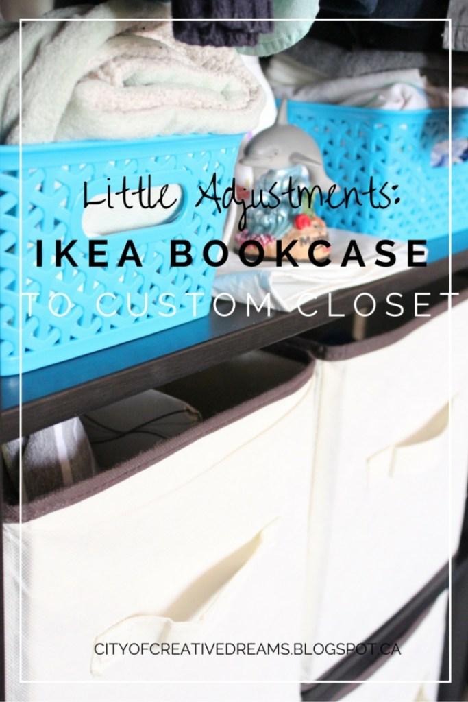 ikea hack bookcase to custom closet