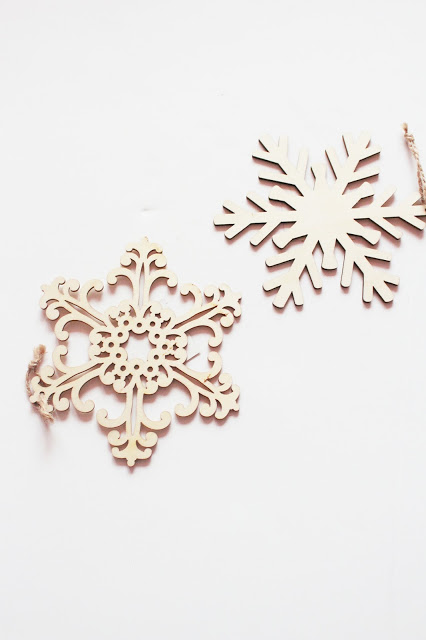 michaels craft store wooden snowflakes
