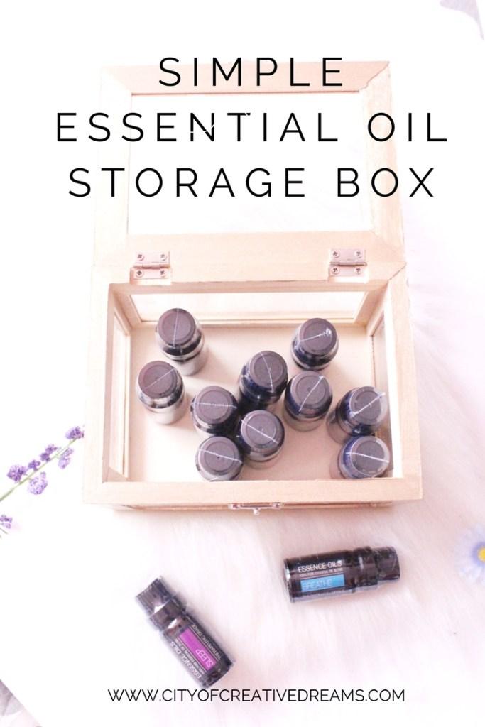 Simple Essential Oil Storage Box | City of Creative Dreams