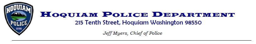 Hoquiam Police Department Press Release