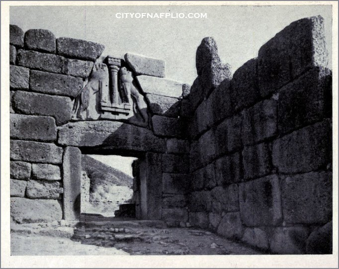 The Lion Gate of the acropolis of Mycenae