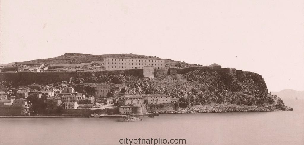 Gezicht op Nauplia, G 47. Gezicht op Nauplia van de zee, Griekenland _1895_1915_detail2